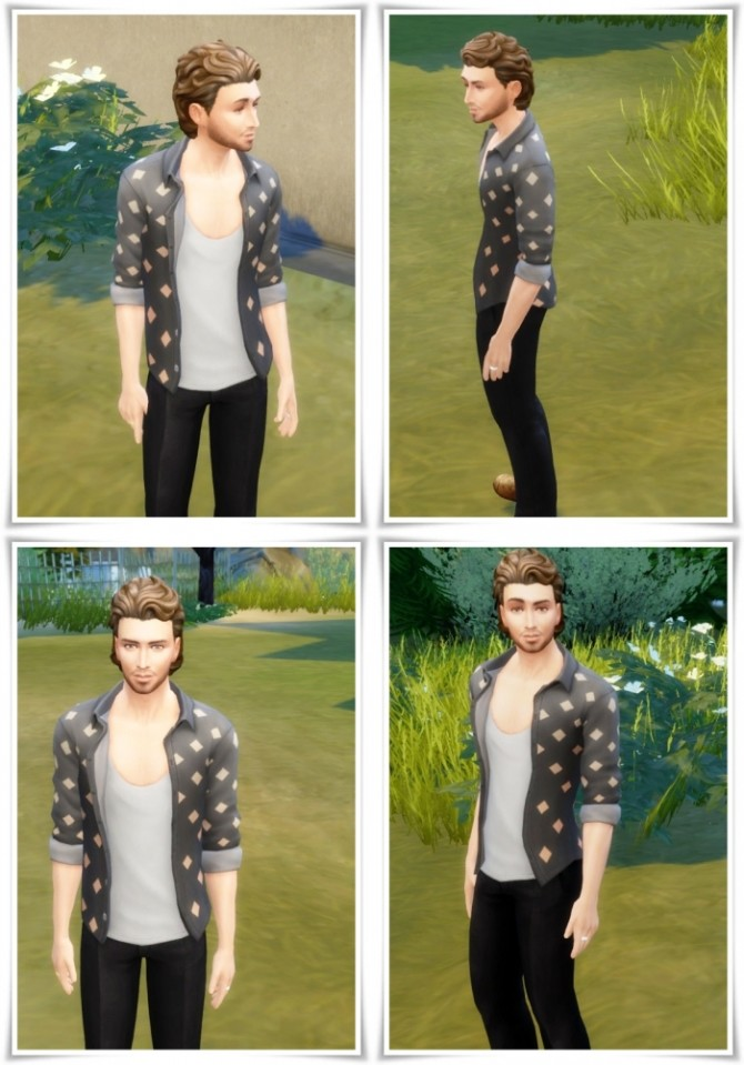Sims 4 SweptBack with Neck Hair at Birksches Sims Blog