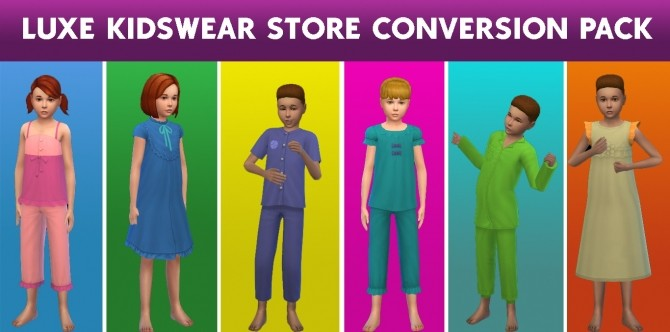 Sims 4 Luxe Kidswear Store Conversion Pack by cepzid at SimsWorkshop