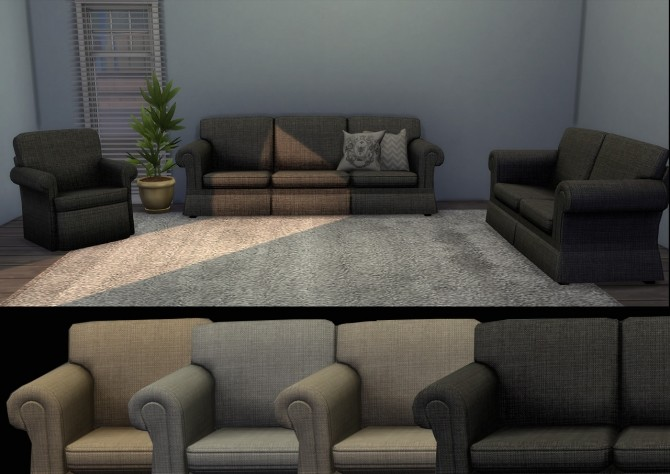 Hipster couch, loveseat & chair at Alial Sim image 1534 670x474 Sims 4 Updates