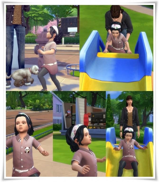 Sims 4 Butterfly Bandana Hair for Toddler at Birksches Sims Blog