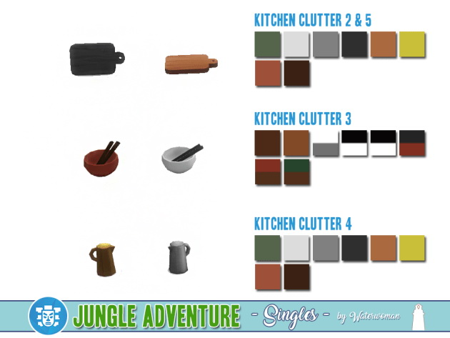 Sims 4 Jungle Adventure Singles by Waterwoman at Akisima