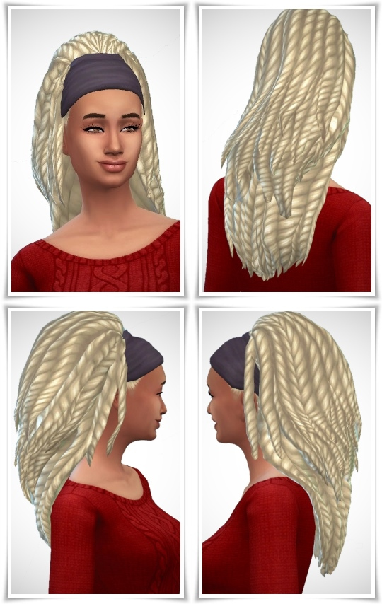 Sims 4 Bandana Dreads at Birksches Sims Blog