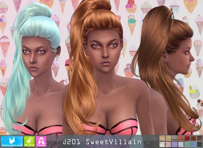 J201 SweetVillain hair (P) at Newsea Sims 4 image 1581 670x491 Sims 4 Updates