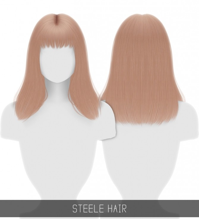 Sims 4 STEELE HAIR at Simpliciaty