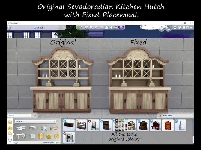 Selvadoradian Kitchen Hutch Fixed by Simmiller at Mod The Sims image 16213 670x499 Sims 4 Updates