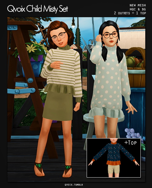 Sims 4 Misty Set kids at qvoix – escaping reality