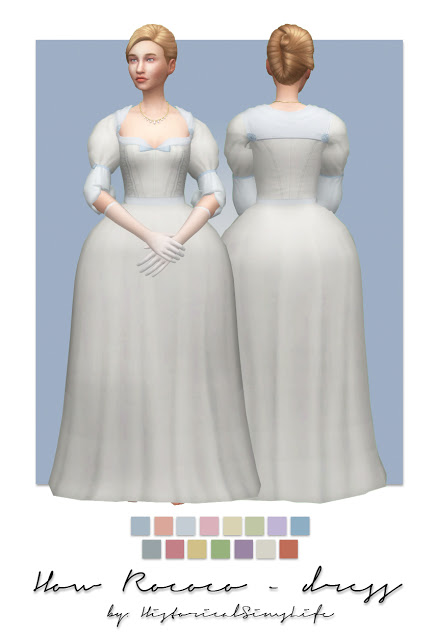 Sims 4 How Rococo Dress & Hat at Historical Sims Life