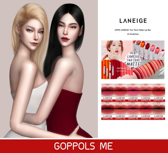 GPME Two Tone Matte Lip Bar at GOPPOLS Me image 1662 Sims 4 Updates