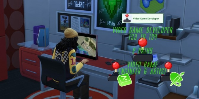 Sims 4 Video Game Developer Career TS3 To TS4 Remake by axelsrose at Mod The Sims