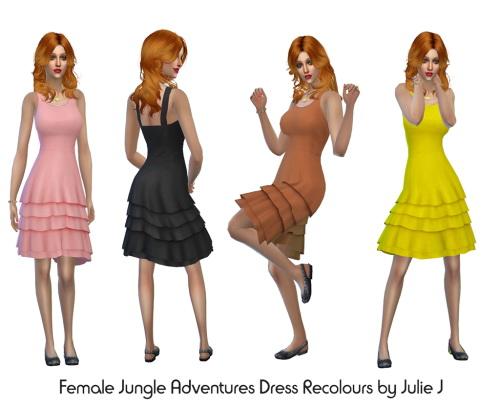 Sims 4 Jungle Stuff Dress Recolours at Julietoon – Julie J