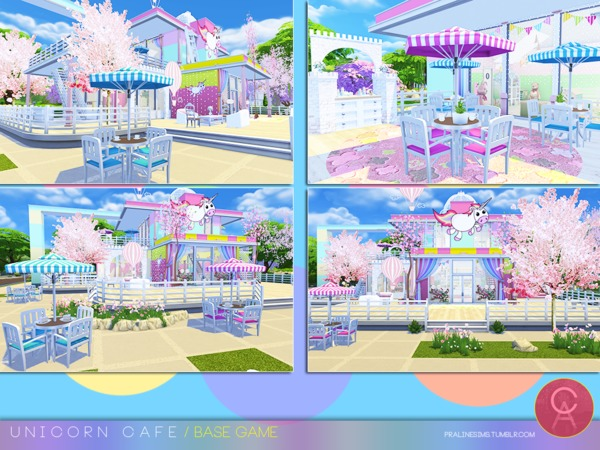 Unicorn Cafe by Pralinesims at TSR image 168 Sims 4 Updates