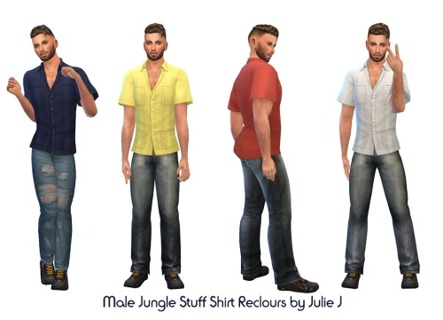 Jungle Stuff Shirt Recolours at Julietoon – Julie J image 1683 Sims 4 Updates