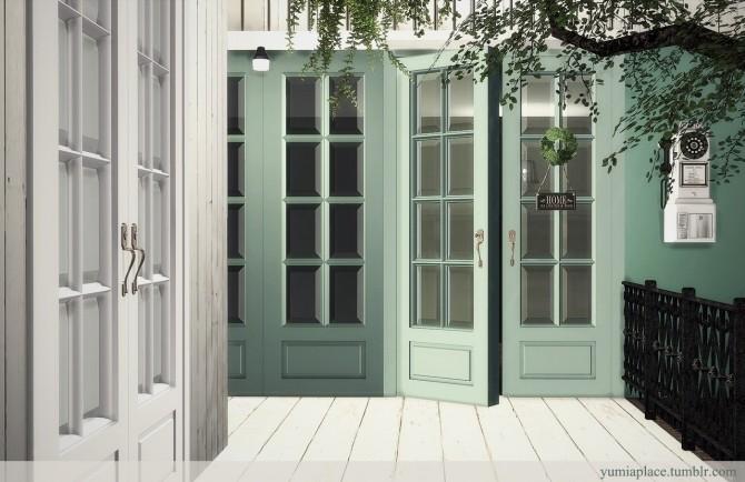 Yogurt Doors & Windows Set at YUMIA'S PLACE image 1711 670x434 Sims 4 Updates