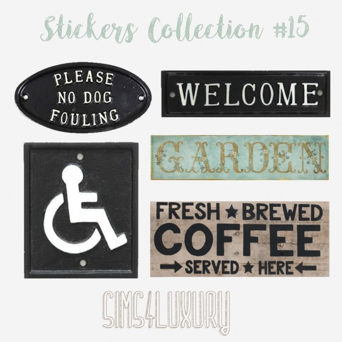 Sims 4 Stickers Collection #15 at Sims4 Luxury