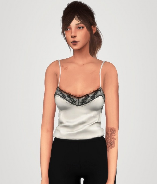 Lace trim top at Elliesimple image 1763 670x783 Sims 4 Updates