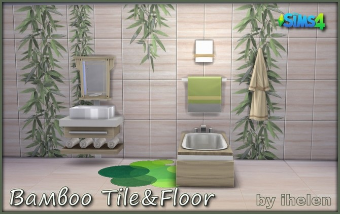 Sims 4 Bamboo Tile&Floor at ihelensims
