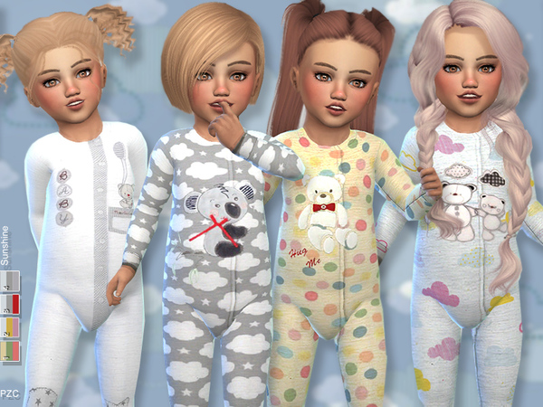 Sims 4 Sunshine Toddler Onesie Collection by Pinkzombiecupcakes at TSR