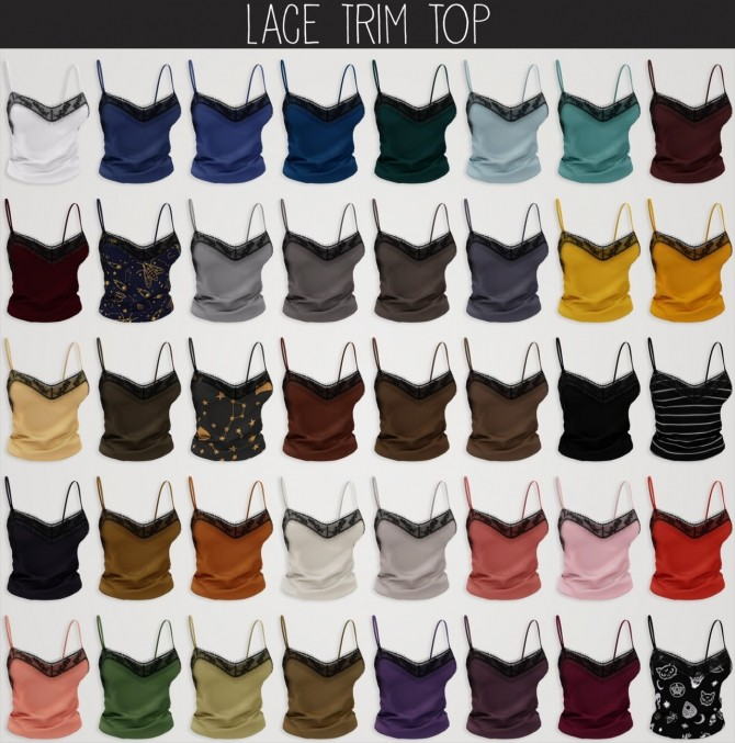 Sims 4 Lace trim top at Elliesimple