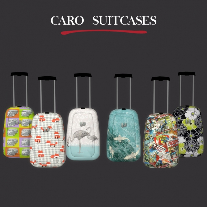 Caro Suitcase At Leo Sims 187 Sims 4 Updates