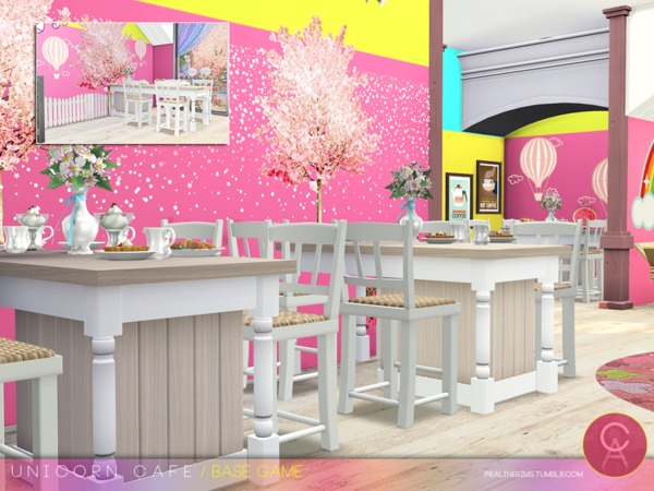 Unicorn Cafe by Pralinesims at TSR image 1810 Sims 4 Updates