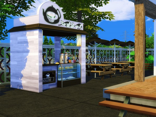 Sims 4 Luxury Clothes Shop by MychQQQ at TSR