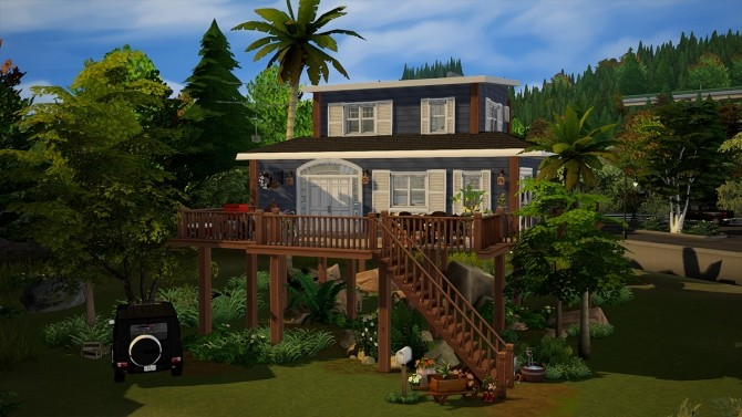 Blue Beach House Furnished at Dream Team Sims image 1832 670x377 Sims 4 Updates