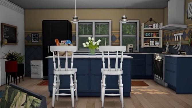 Sims 4 Blue Beach House Furnished at Dream Team Sims