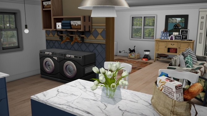 Blue Beach House Furnished at Dream Team Sims image 1861 670x377 Sims 4 Updates