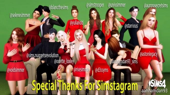 Sims 4 The Hipster Sofa Group Pose at Aan Hamdan Simmer93