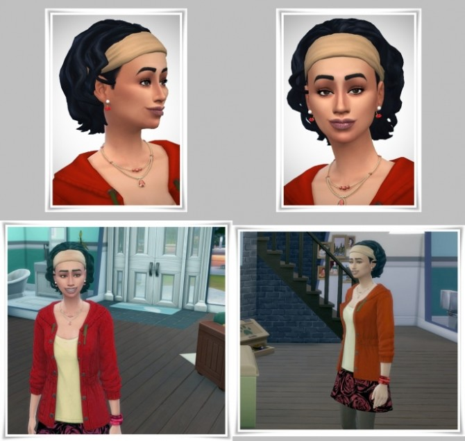 Sims 4 More Curls with Bandana hair at Birksches Sims Blog