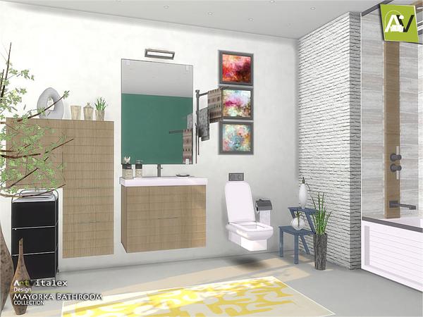 Mayorka Bathroom by ArtVitalex at TSR image 1910 Sims 4 Updates