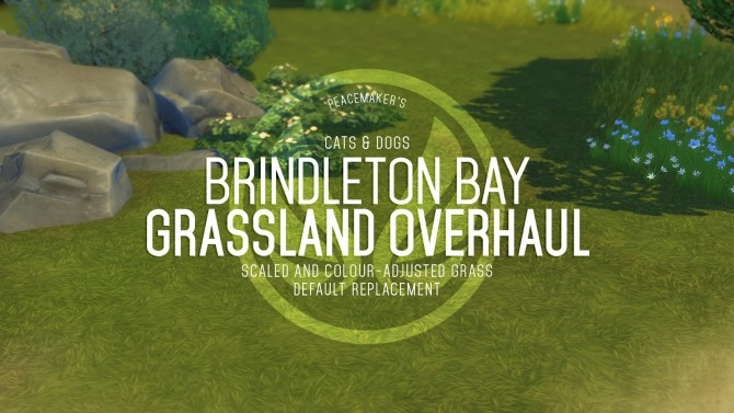 Sims 4 Brindleton Bay Grassland Overhaul Default Replacement Grass at Simsational Designs