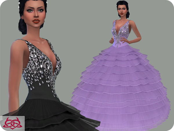 Sims 4 Wedding Dress 15 RECOLOR 1 by Colores Urbanos at TSR
