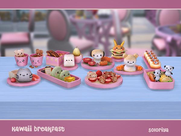 Kawaii Breakfast by soloriya at TSR image 1927 Sims 4 Updates