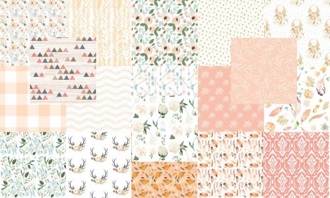 Sims 4 Peach curtain collection at TaTschu`s Sims4 CC