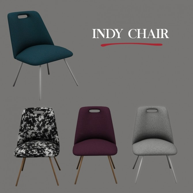 Sims 4 Indy Chair at Leo Sims