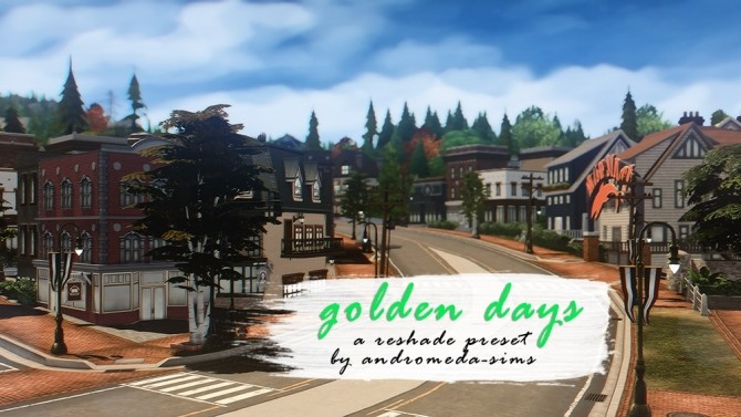 Golden days preset for reshade 3.0 at Andromeda Sims image 1951 670x377 Sims 4 Updates