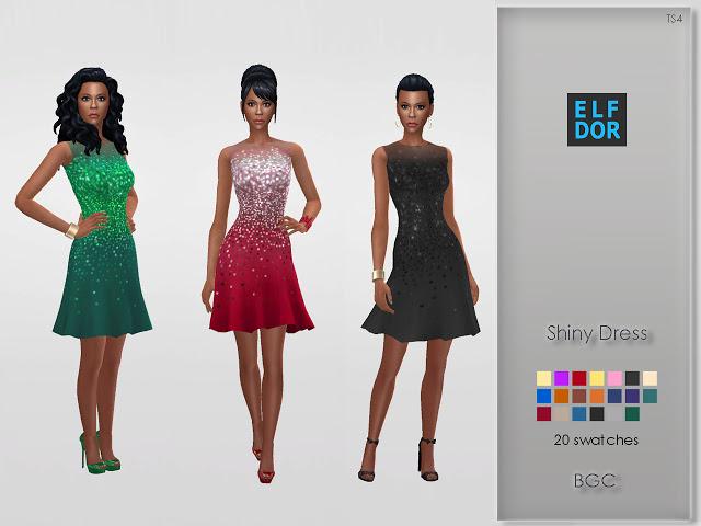 Shiny Dress at Elfdor Sims image 2007 Sims 4 Updates