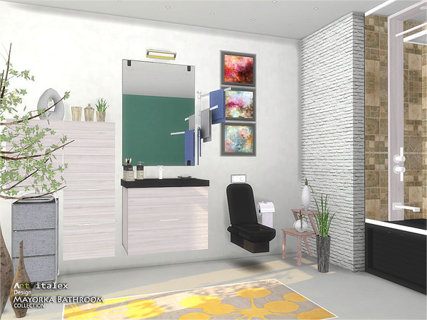 Mayorka Bathroom by ArtVitalex at TSR image 2010 Sims 4 Updates