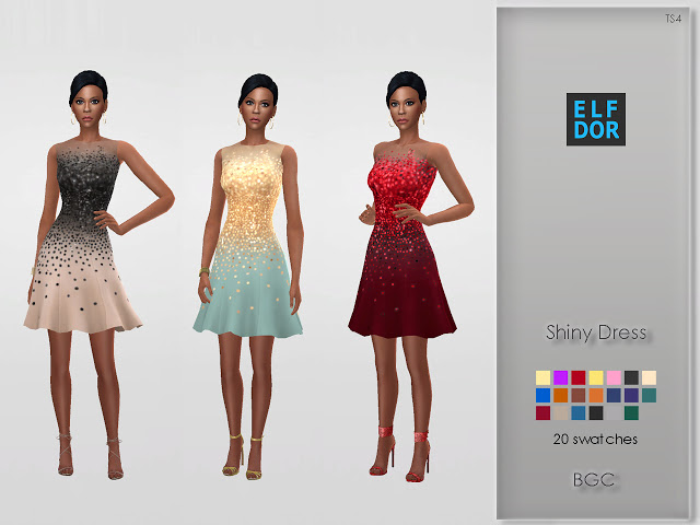 Shiny Dress at Elfdor Sims image 20113 Sims 4 Updates