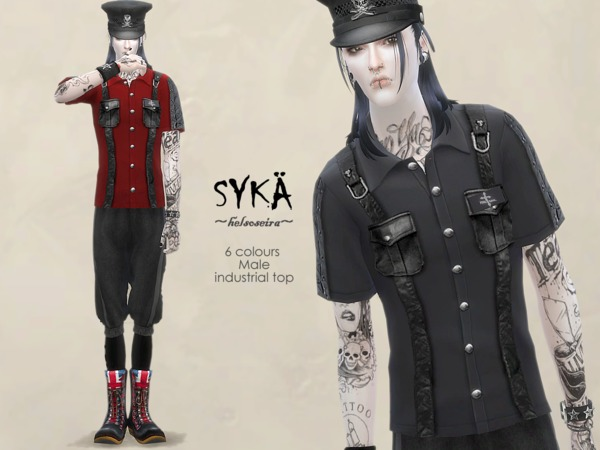 SYKA Industrial Top M by Helsoseira at TSR image 2024 Sims 4 Updates
