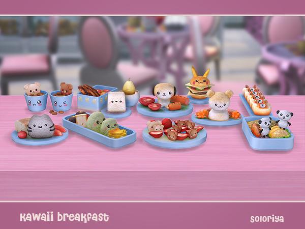 Kawaii Breakfast by soloriya at TSR image 2029 Sims 4 Updates