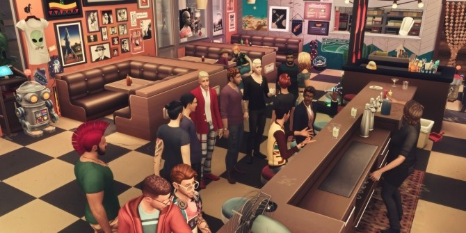 Sims 4 SHADY GROVE MOTEL & DINERBAR at Picture Amoebae