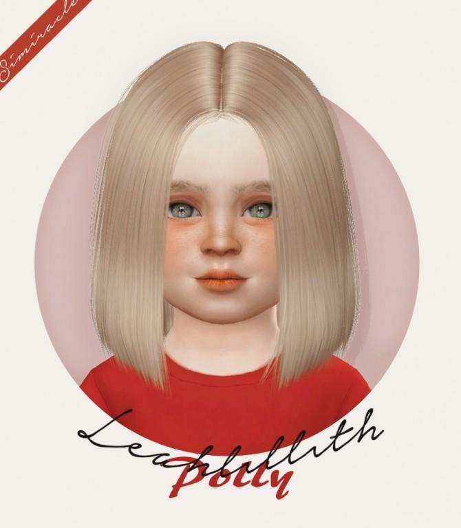 Sims 4 LeahLillith Polly hair K + T at Simiracle