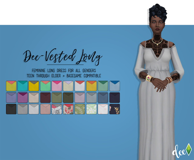 Sims 4 Dee Vested Longer at Deetron Sims