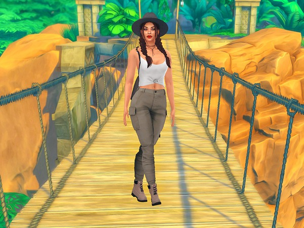Jungle Adventure CAS Background by KatVerseCC at TSR image 2107 Sims 4 Updates
