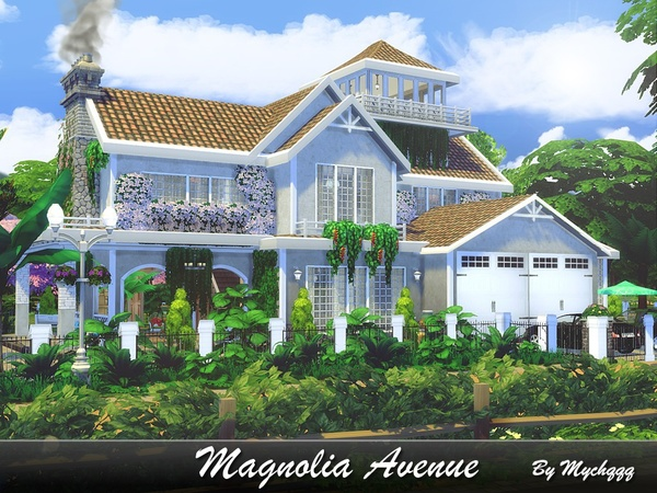 Magnolia Avenue house by MychQQQ at TSR image 2120 Sims 4 Updates