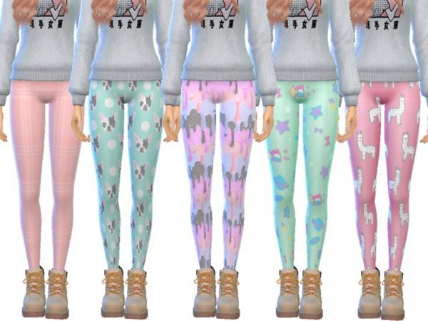 Sims 4 Tumblr Themed Leggings Pack Twelve by Wicked Kittie at TSR