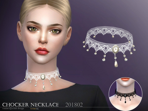 Sims 4 Necklace F 201802 by S Club LL at TSR