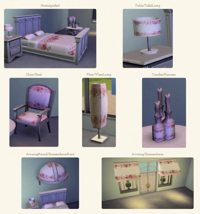 Vases, candles and flower set at TheUnicorn Creations image 2164 670x719 Sims 4 Updates